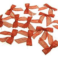 Burlap Jute Pre-tied Pull Bow, 7/8-inch, 12-pack (Red) by Firefly Imports preisvergleich bei billige-tabletten.eu