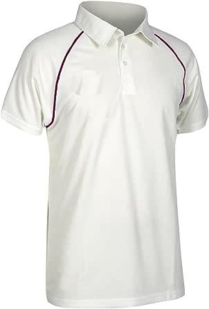 Gray-Nicolls Men's Matrix Short Sleeve Men's Matrix Short Sleeve Shirt - Ivory, Medium