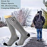 Beheizte Socken Herren Damen,7.4V 2200MAH Elektrische Wiederaufladbarem Batterie Socken,Wärmende Winter-Baumwollsocken Fußwärmer für Skifahren Jagen Angeln Reiten Radfahren Camping Motorradfahren - 6