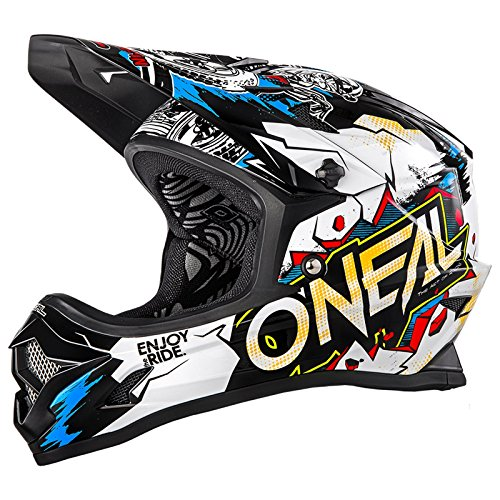 O\'Neal 0500-V13 Kinder Fullfacehelm Backflip RL2 Villain Youth, Weiß, M