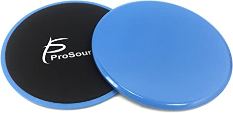 ProSource Core Sliding Exercise Discs, Dual-Sided Sliders for Use on Any Surface at Home or Gym for Full-Body Workouts
