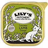 Lily's Kitchen Organic Lamb Dinner Complete Wet Food for Cats 100g (Pack of 16)