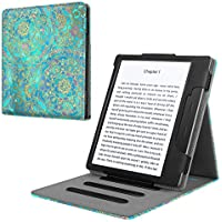 Fintie Étui Kindle Oasis 2017 - vertical Flip Case Multi Angle Étui de protection avec fonction support et veille/réveil automatique pour Amazon Kindle Oasis (9 génération - 2017 modèle), Jade