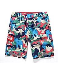 PZLL Camo casual Hawaiian vacaciones viento ocio verano pantalones cortos, pantalones de playa pantalones de los hombres , army green , xxl