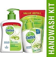 Dettol Aloe Vera Liquid Handwash - 200 ml with Refill - 175 ml