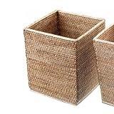 Basket Papierkorb quadratisch - Rattan beige - 25 x 25
