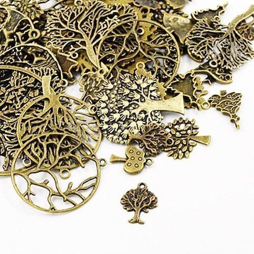 pacco-30-grams-bronzo-antico-tibetano-miscelacasuale-ciondoli-albero-ha07080-charming-beads