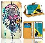 Vodafone Smart Ultra 6 Handy Tasche, FoneExpert® Wallet Case Flip Cover Hüllen Etui Ledertasche Lederhülle Premium Schutzhülle für Vodafone Smart Ultra 6 (Pattern 9)