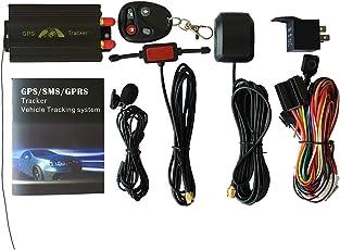 Fantasyworld TK103B Compact Size Auto Vehicle GPS Tracker GPS SMS GPRS SOS per iOS W/telecomando incorporato Shock Sensor