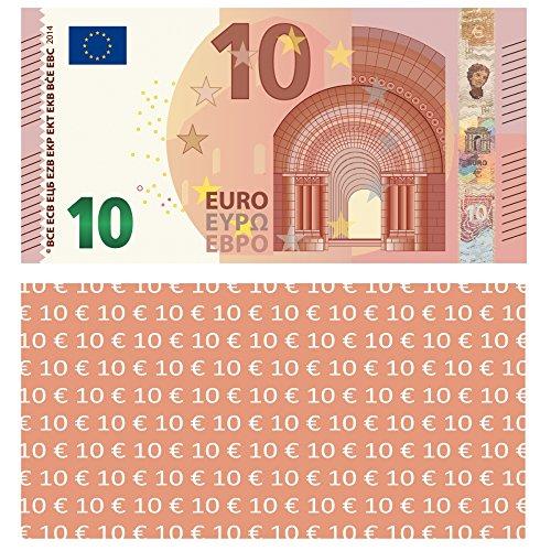 LYSCO  10 EURO Spielgeld, 100 Stück, 94x74mm, verkleinert auf 75% der Originalgröße