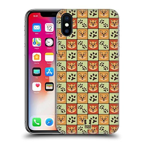 Head Case Designs Panda Pattern Animali E Impronte Cover Retro Rigida per Apple iPhone X Gatto