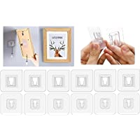 TIERRAWORLD 10 Pairs Double-Sided Adhesive Wall Hooks, Waterproof and Oil-proof Reusable Seamless Hooks Without Punching…