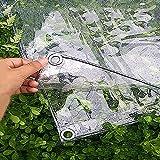 Abdeckplane Transparente Wasserdichte PVC-Markise Plane, 0,3 mm weicher Film, Fensterbalkon regendicht, 370 g / ㎡ (größe : 1.4x2m)