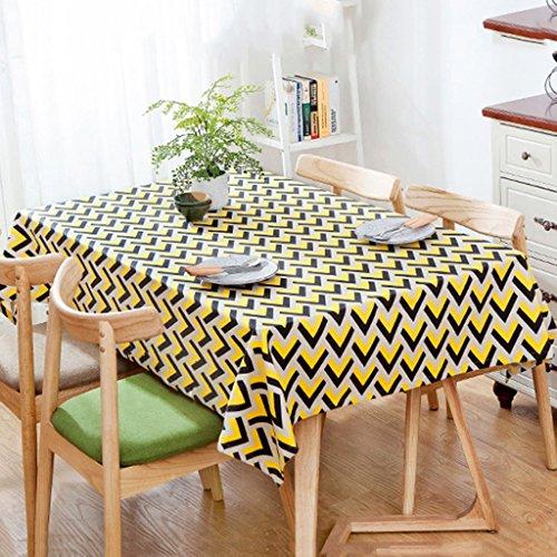 e Mode geometrische Tischdecken personalisierte Tischdecken Kaffeetischdecke quadratische Tabelle Staub Tischdecken ( Color : Yellow , Size : 60*60cm ) (Personalisierte Tischdecke)