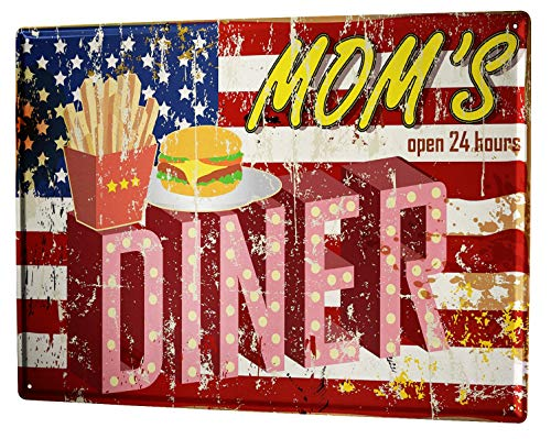Blechschild Fun Mom's Diner