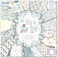 First Edition It's a Boy - Bloc de de papel para manualidades