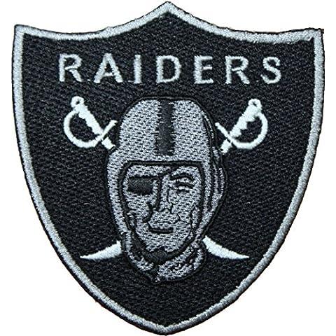 NFL Oakland Raiders Logo parche bordado de 4cm para coser o planchar