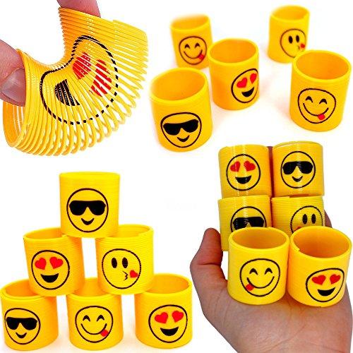 2 x Emoji - Strolche ┃ -NEU- ┃ Happy Face ┃ Kindergeburtstag ┃ Mitgebsel ┃12 x Emoji Strolche zum Ziehen ()