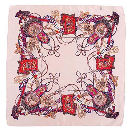hal Sonnenschirm kleine quadratische Kopfschmuck gedruckt Vintage Mode Platz Handtuch Blumendruck Haarband ()
