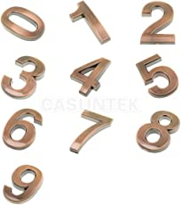 Tradico® 10x Hotel Room Door Numbers Numerical Doorplate Stickers 0-9 House Sign Tabs