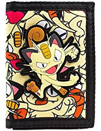 Pokemon Meowth 52 Team Rocket Coin & Card Tri-Fold Wallet