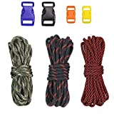 PSKOOK Paracord 550 Armband DIY Kits Fallschirmseil Set mit Schnallen für Outdoor-Survival Seil Manuelle Flechten Handgelenk Bands