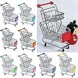 Homyl Miniatur Einkaufswagen Gitterwagen Supermarktwagen mit Doppel Reihen Design, aus Metall und Kunststoff - Rosa