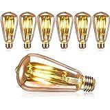 DASIAUTOEM Ampoule Edison Vintage, Ampoule LED Edison E27 Rétro Décorative Lampe ST64 4W Ampoule Vintage Nostalgiques Antique