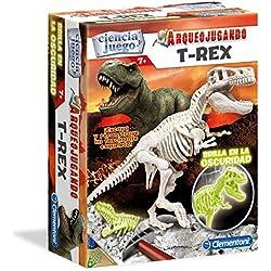 Clementioni - Arqueojugando T-Rex fluorescente, juego de ciencia educativo (550326)