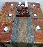 Sucastle® 35x160cm tissu Chemin de Table Cuisine Imperméable Décoration en Aspect naturel