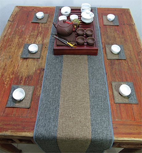 Sucastle® 35x100cm Linge de maison Chemin de Table Cuisine Imperméable Décoration en Aspect naturel
