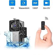 Wasserdichte Wlan Mini Kamera, NIYPS Full HD 1080P Tragbare Kleine Überwachungskamera, Mikro Wifi Nanny Cam mit Bewegungserkennung und Infrarot Nachtsicht,Innen/Aussen Wireless Weitwinkel IP Sicherheit Kameras