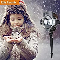 Unimall Lámpara de proyección LED Lámpara de proyector con mando a distancia Luz Jardín al aire libre Protección IP65 Copos de nieve Nevadas Efecto de luz para la fiesta de Navidad Bodas
