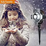 Unimall Led ProjektionslampeProjektor Lampe Innen & Außen Wasserdicht Schneeflocken Schneefall Lichteffekt für Weihnachten und anderen Feier oder Fest