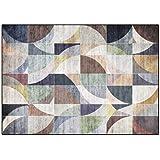 Mattor för modern design Område Matta Retro stil geometriskt mosaikmönster Matta lämplig för rum, sovrum, korridor, soffa80x