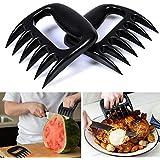 AGPtek® Set di 2 artigli professionali per la carne - perfetti per maneggiare e sminuzzare manzo, pollo, maiale, tacchino, ecc.