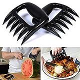 AGPTek BBQ Grill Fumeur Bear Paw Claws viande de porc Handlers Shredder Puller Sculpture Forks (Set of 2) Approuvé par la FDA