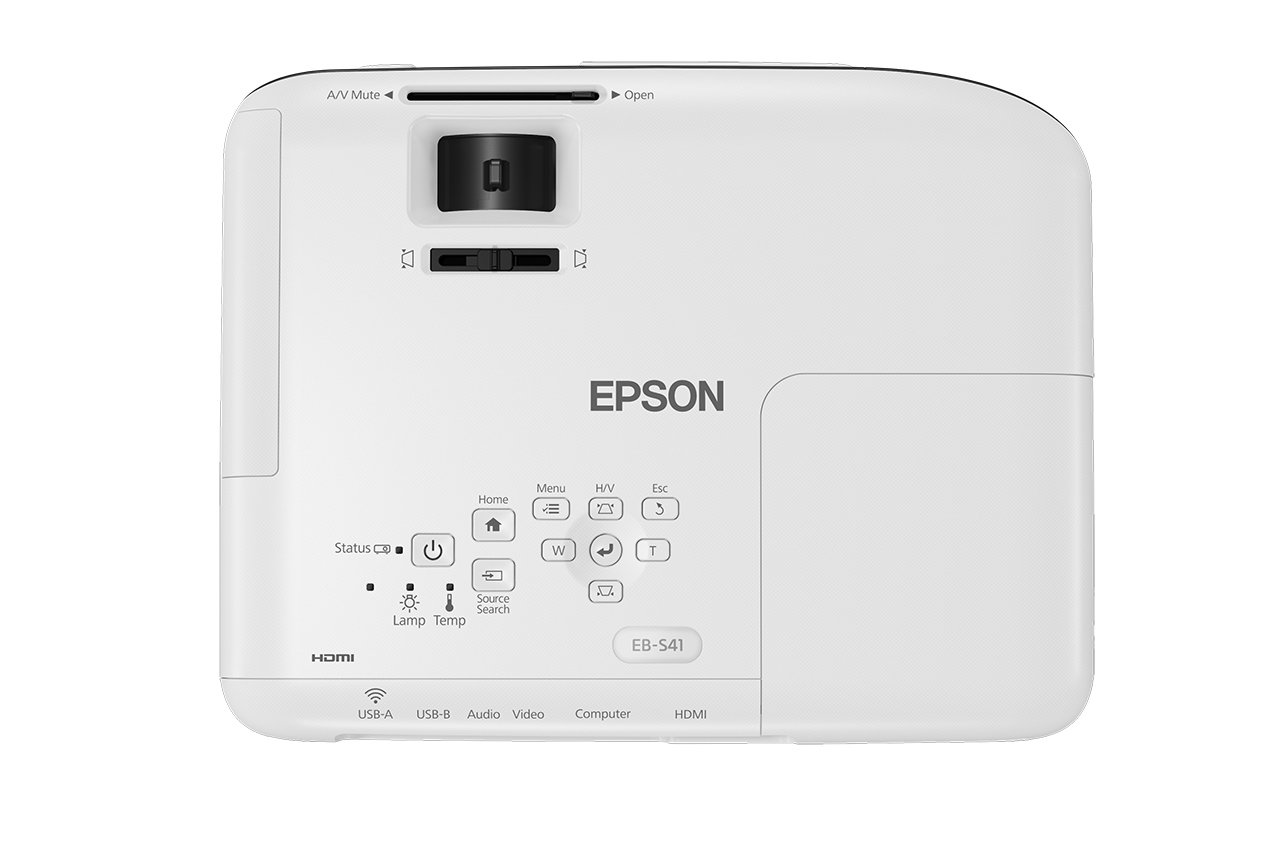 61hwcztTTcL - Epson EB-S41 3LCD, 3300 Lumens, 300 Inch Display, SVGA Projector - White