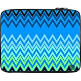 """Snoogg Wave Patterns Blues15"""" Inch To 15.5"""" Inch To 15.6"""" Inch Laptop Netbook Notebook Slipcase Sleeve Soft Case Cover Bag Notebook / Netbook / Ultrabook Carrying Case For Macbook Pro Acer Asus Dell Hp Sony Toshiba"""
