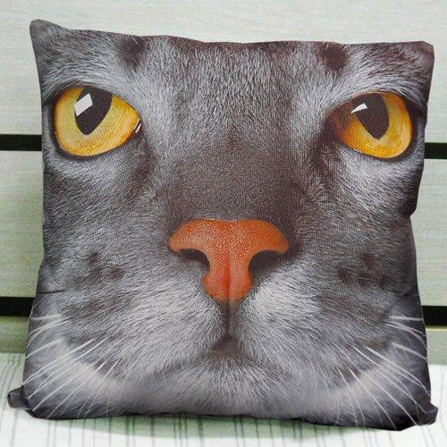 MeMoreCool personalizzata, 3D, motivo: gatto su entrambi i lati, alta qualità, morbido velluto Coperta decorativa, effetto casa Federa copricuscino Sofa Throw Pillow Sham Toss Cuscino da 16 cm-40,64 (16