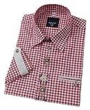 Moschen-Bayern Herren Hemd Trachtenhemd Kariert Oktoberfest Rot 41 42 Large