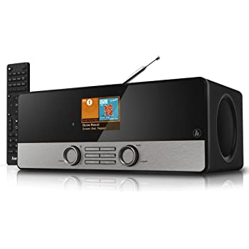 Hama Internetradio Digitalradio DIR3100 (WLAN / LAN / DAB+ / DAB / FM, Farbdisplay 2,8 Zoll, Fernbedienung, USB-Anschluss, Weck- und Wifi-Streamingfunktion, gratis Radio App), schwarz