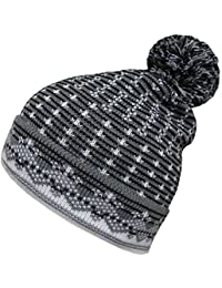 Mens Womens Oversized Beanies Winter Wooly Slouch Beanie Hat With Dual Pattern