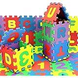 Juguete del bebé, RETUROM 36pcs número de alfabeto rompecabezas de espuma para bebé del niño del juguete educativo