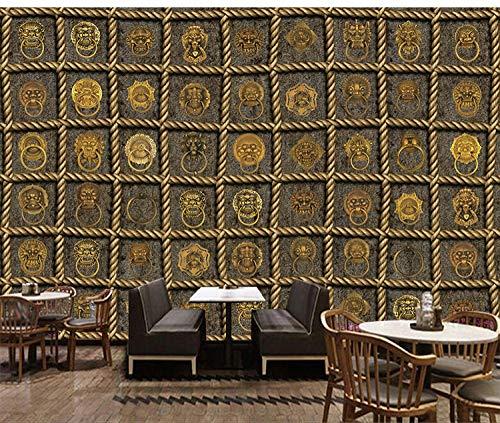 Tapete vintage 3D grau Neues Wandbild des Retro- nostalgischen Windhintergrund-Wandgemäldes Türklopfers des Hotel KTV-Barclubs industrielles