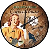 Nostalgic-Art 51059 Coffee und Chocolate House Lady, Wanduhr, 31 cm
