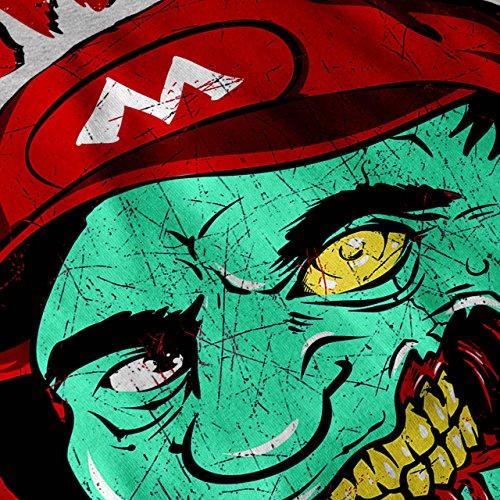 Zombie Mario Land Super Luigi Damen Schwarz S-2XL Muskelshirt | Wellcoda Grau
