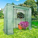 casa pura® Gewächshaus Botanika | für Tomaten und andere schutzbedürftige Pflanzen | Foliengewächshaus | inkl. Bodenankern | 200 x 78 x 170 cm