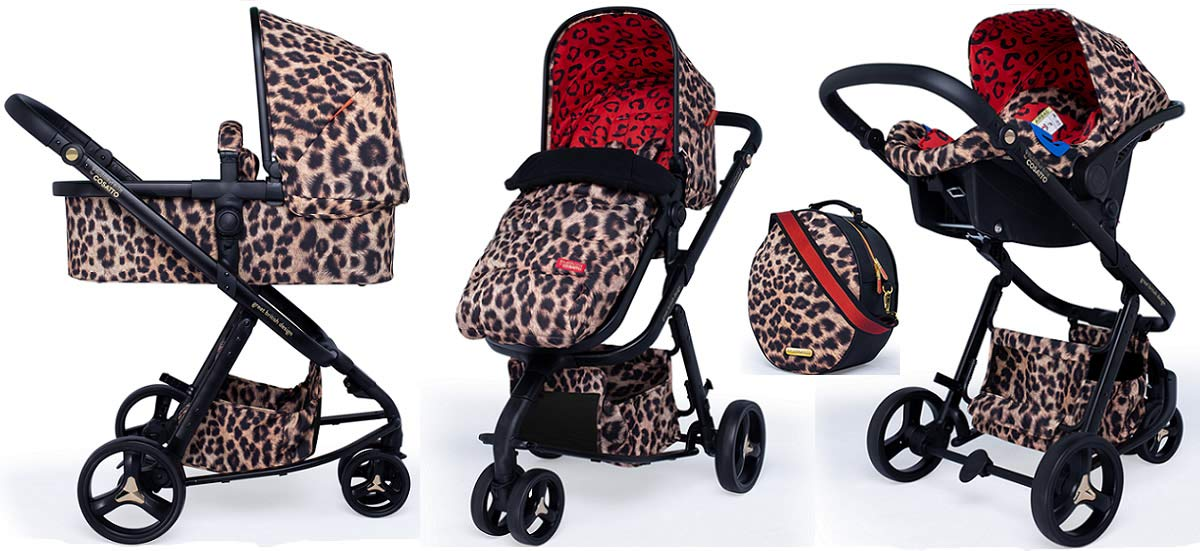 Cosatto Paloma Giggle 3 Travel Sytem Hear us Roar with Car Seat Bag Footmuff & Raincover Cosatto Includes - Pushchair, Carrycot, Port Car seat, adaptors, Change bag, Footmuff and Raincover All round suspension Suitable from birth carrycot and Car seat 1