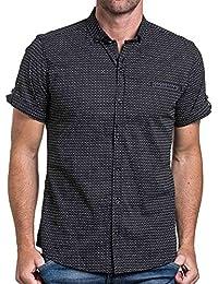 BLZ jeans - Chemisette homme noir motifs triangle